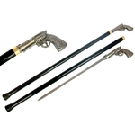 Canne épée 93cm pistolet de marche - métal