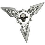Shuriken étoile Squelette de lancer - Tout acier.