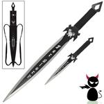 Epée + dague fantastique Démon - Full tang acier inox3