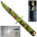 Poignard couteau militaire 21,5cm - compact