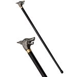 Canne épée 87cm de marche - design métal Loup...