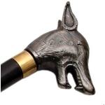 Canne épée 87cm de marche - design métal Loup.