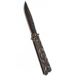 Balisong couteau papillon 22cm - Design pierre (2)