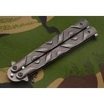 Balisong couteau papillon 22cm - Design pierre..