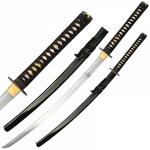 Coffret katana 105cm avec lame carbone - accessoires ninja.