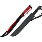 Machette épée Eradicator Zombie 63cm - Full Tang acier rouge