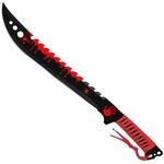 Machette épée Eradicator Zombie 63cm - Full Tang acier rouge.