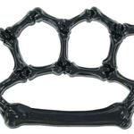 Poing americain squelette PVC - noir.