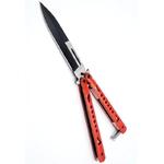 Balisong couteau papillon 22,2cm rouge - ALBAINOX.