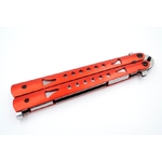 Balisong couteau papillon 22,2cm rouge - ALBAINOX... (2)