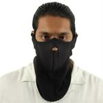 Masque en néoprène, airsoft moto outdoor - Design noir.