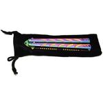 Balisong rainbow 22,5cm couteau papillon - pochette incluse.