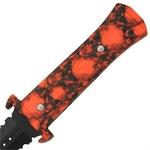 Dague Squelette 24,5cm Zombie - Full tang acier..