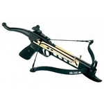 Arbalète pistolet 80 lbs doré performance + 3 flèches