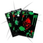 Lot 4 cartes à lancer tranchants - Carte noire squelette..