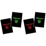 Lot 4 cartes à lancer tranchants - Carte noire squelette.