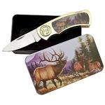 Coffret collector couteau pliant - Collection Cerf biche