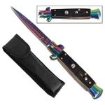 Couteau Italien 22cm automatique à cran d'arret2 - Titane