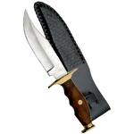 Poignard couteau de chasse 26,5cm - Manche bois et laiton...