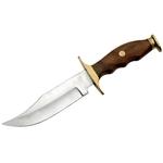 Poignard couteau de chasse 26,5cm - Manche bois et laiton.