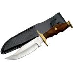 Poignard couteau de chasse 26,5cm - Manche bois et laiton