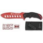 Poignard couteau d'entrainement de combat 27,5cm - K25 RUI rouge
