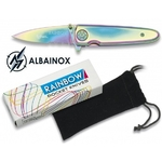 Couteau pliant 15,5cm RAINBOW + pochette - ALBAINOX