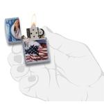 Briquet Zippo officiel - Aigle USA drapeau américain...
