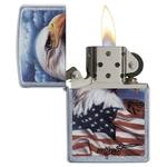 Briquet Zippo officiel - Aigle USA drapeau américain..