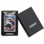 Briquet Zippo officiel - Aigle USA drapeau américain