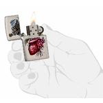 Briquet Zippo officiel - Coeur et épée squelette 2..