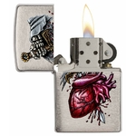Briquet Zippo officiel - Coeur et épée squelette 2