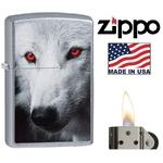 Briquet Zippo officiel - Loup wolf yeux rouge....