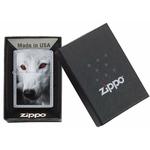 Briquet Zippo officiel - Loup wolf yeux rouge..