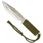 Couteau tactique 19cm paracorde poignard - vert..