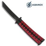 Balisong couteau papillon 24cm ALBAINOX - Design katana - 2