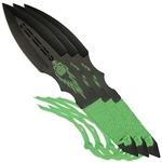3 couteaux Zombie lancer - Couteau de jet