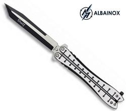 Couteau papillon balisong 23cm acier inox - ALBAINOX..