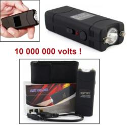 Taser shocker électrique noir + étui - Tazer 10 000 000 volts !