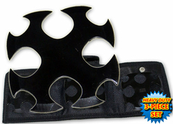 Pack 3 étoiles de jet + étui, shuriken - noir TK4