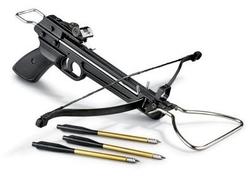Arbalète pistolet 80 livres + 3 fleches alu