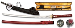 Coffret katana 105cm avec lame carbone - accessoires.