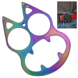 Poing américain décapsuleur USA, acier multicolore - discret
