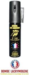 Bombe lacrymogène 25ml GAZ - aérosol spray lacrymo