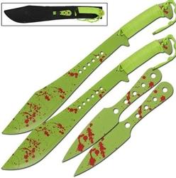 Lot 2 machettes 61cm + 2 couteaux 25cm - machette épée