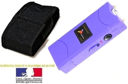 Taser shocker électrique violet - Tazer Power 6 800 000 volts !