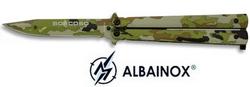 Balisong couteau papillon 21,5cm camouflage - ALBAINOX
