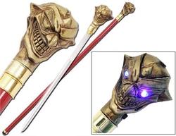 Canne épée 96,5cm Joker de marche - Les yeux s'allument !2