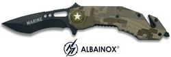 Couteau pliant Marine 20cm - camouflage