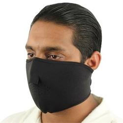 Masque en néoprène, airsoft, moto, biker - noir